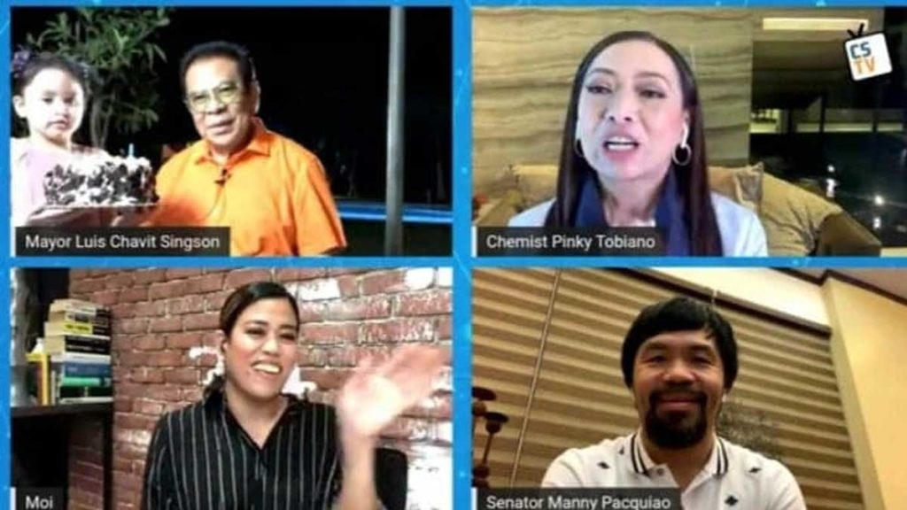 Chavit Singson Introduces Youngest Child in an Online Show