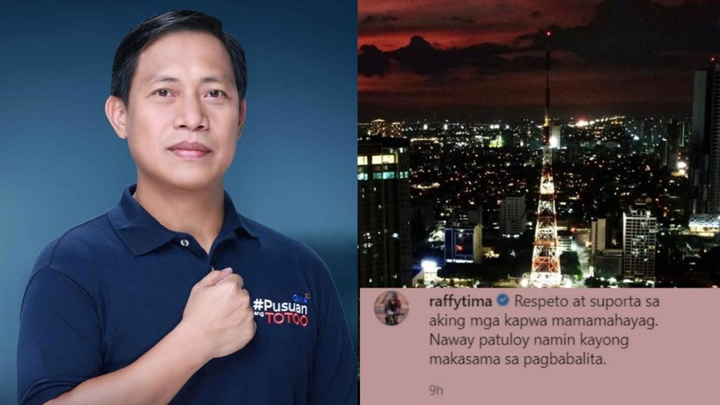 Netizens React to Raffy Tima's Post of Showing Support for ABS-CBN