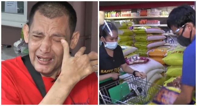 John Regala Receives Groceries, Medicines, and Cash from Raffy Tulfo