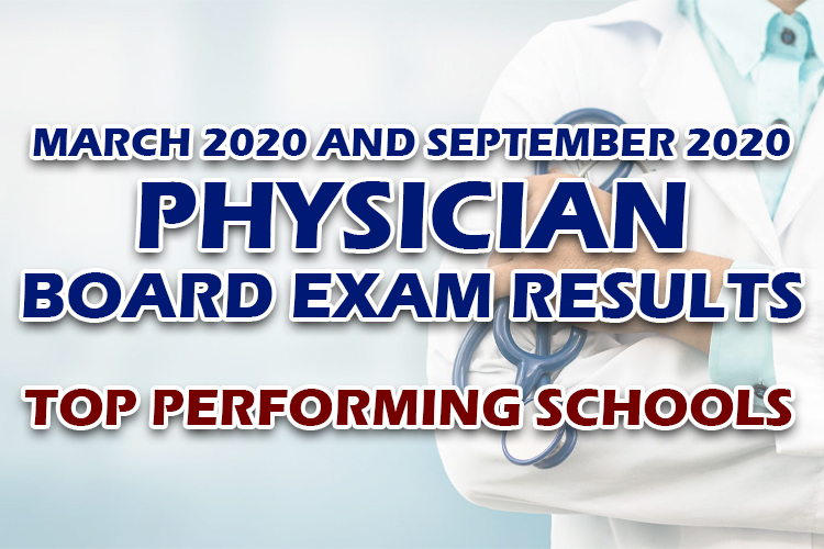 Physician Board Exam Results top performing schools