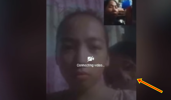 Ghost of an Old Woman Appears in a Video Call
