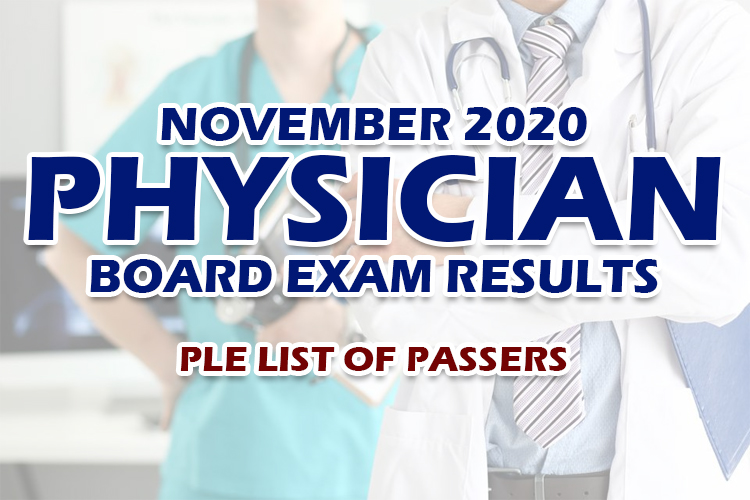PLE Results November 2020 List Of Passers