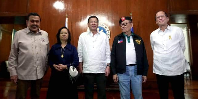 President Duterte was considering meeting with former Presidents to discuss West Philippine Sea issues.
