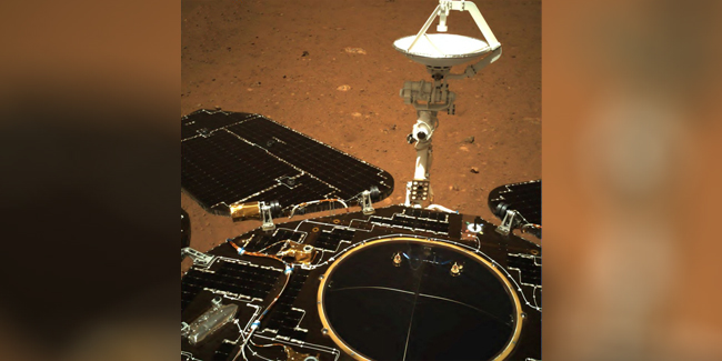 A Martian rover took its first drive on the surface of the Red Planet, according to China.