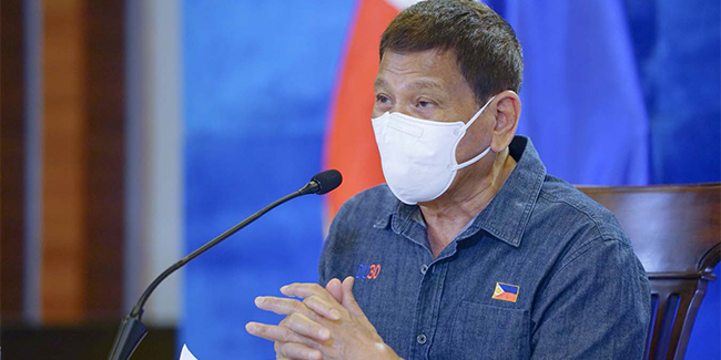 No face-to-face classes until children were vaccinated against COVID-19, according to President Duterte.