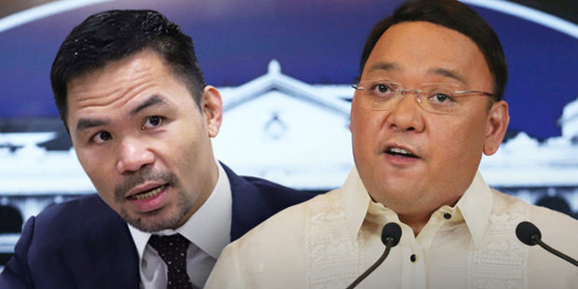 """Senator Pacquiao was the """"best in the boxing ring and probably not as good elsewhere"""", according to Palace."""