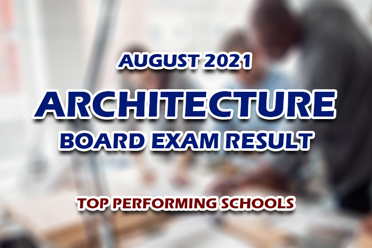 Architecture Board Exam Result August 2021 TOP PERFORMING SCHOOLS