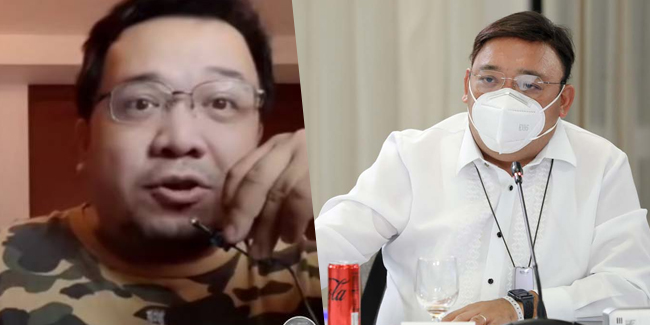 Harry Roque denied that the man in a viral TikTok video was his son.
