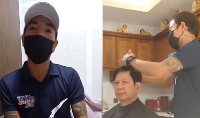 Ping Lacson and his barber